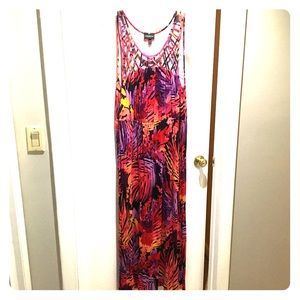 Maxi Dress with Cut-Outs